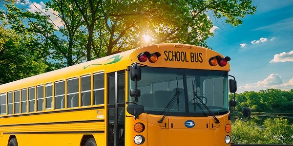 The five all-electric buses delivered to Madera (Calif.) Unified School District are the first...