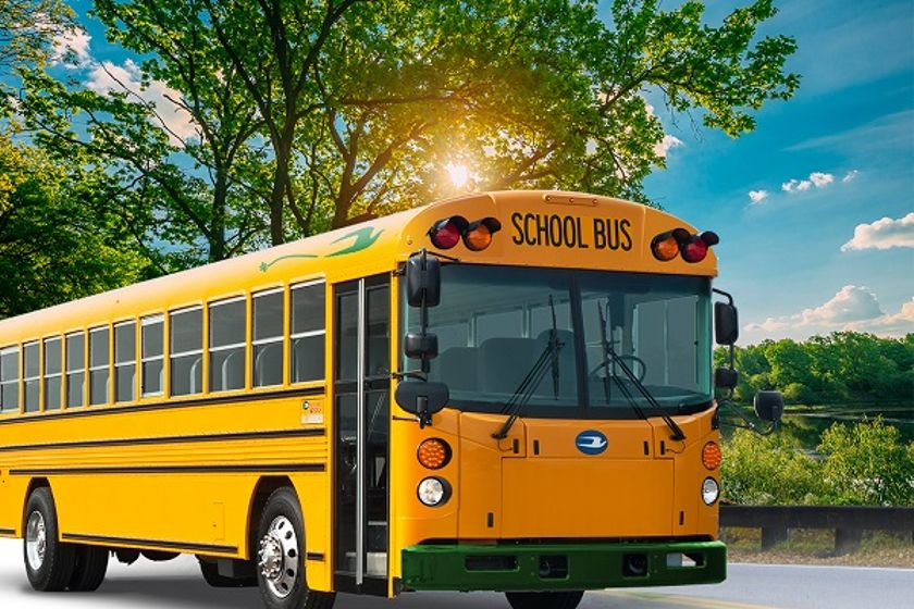 The fiveall-electric busesdelivered to Madera (Calif.) Unified School District are the first...