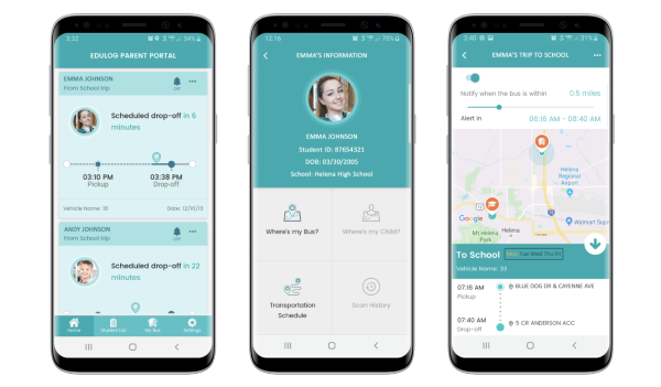 Samsara and Edulog launched an integrated solution designed to help track ridership, plan routes that support social distancing, and share real-time updates with parents. - Photo courtesy Edulog and Samsara