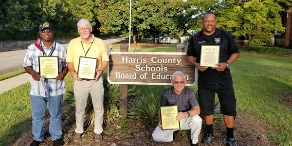 Pictured from left to right arefour Muscogee County (Ga.) School District drivers—Jimmie...