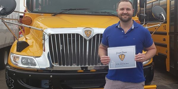 Pictured here is one of this year's IC Bus scholarship winners, Joseph Vance, who is represented...