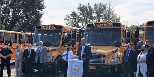 The New York Association for Pupil Transportation's (NYAPT's) coalition held an event to remind...