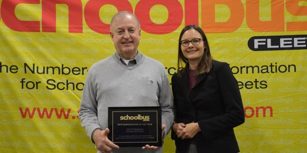Last year's School Bus Fleet Administrator of the Year award went to John Hennessey, the...