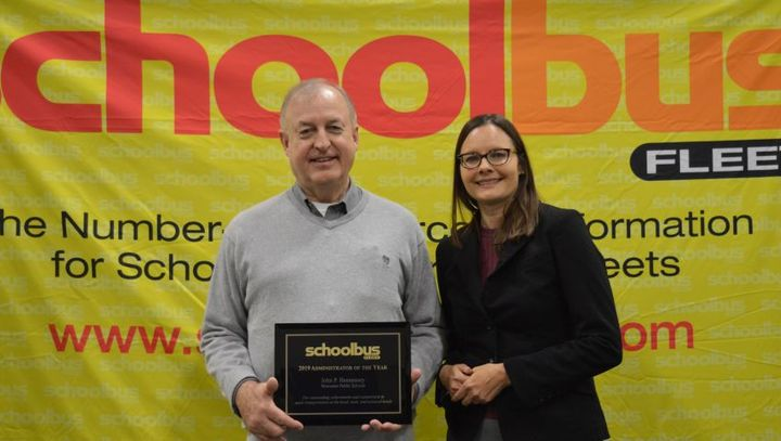Last year's School Bus Fleet Administrator of the Year award went to John Hennessey, the director of transportation for Worcester (Mass.) Public Schools. -