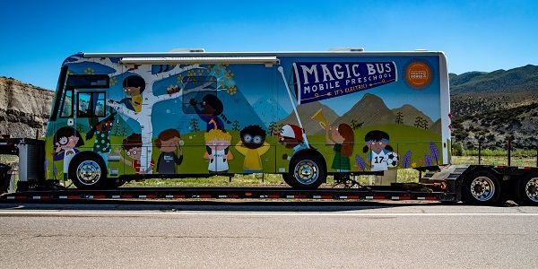 The all-electric Magic Busfrom Winnebago Industries Specialty Vehicles will bring learning to...
