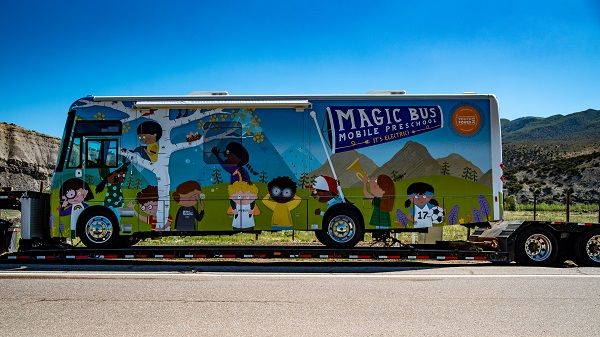 The all-electric Magic Busfrom Winnebago Industries Specialty Vehicles will bring learning to students and families in Eagle County, Colo. - Photo courtesy Vail Valley Foundation