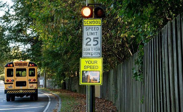 Audi of Americawill develop cellular vehicle-to-everything signals to alert drivers when they are entering school zones or near school buses. - Photo courtesy Audi of America