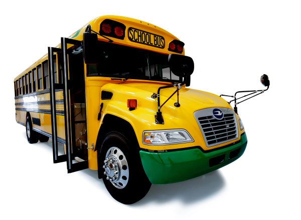 Multiple states with varying climates and road conditions are adopting electric school buses for cost savings and environmental impact, according to Blue Bird. - Photo courtesy Blue Bird