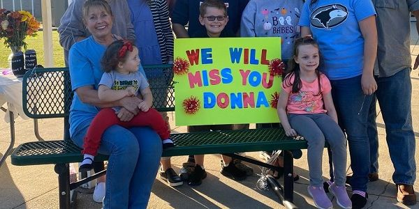 Donna Channell, a longtime driver for Helena Intermediate School in Alabama (pictured...
