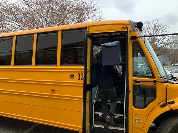 Mount Airy (N.C.) City Schools will pilot a three-year Smart School Bus Safety program with part of the state's coronavirus relief funding. - Photo courtesy Carrie Venable