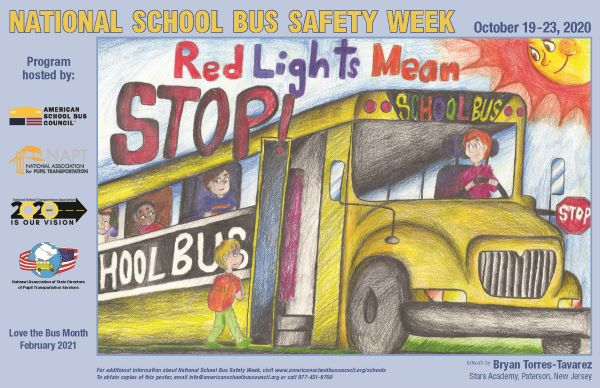 American School Bus Council Names National School Bus Safety Week Poster Contest Winner