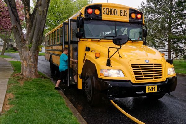 Three national associations highlight school bus safety benefits and COVID-19 precautions taken by pupil transporters during National School Bus Safety Week. - File photo courtesy Student Transportation Inc.