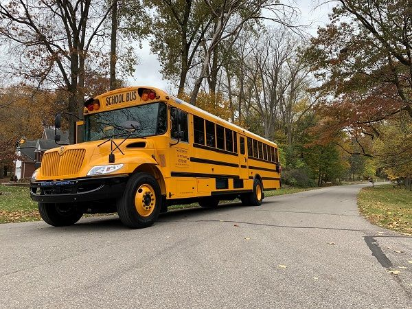 IC Bus's CE Series electric bus offers three regenerative braking modes and has an available battery range of 200-plus miles per charge. - Photo courtesy Navistar