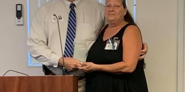 Gary Masters, Levy County (Fla.) School District's transportation director, presented bus driver...