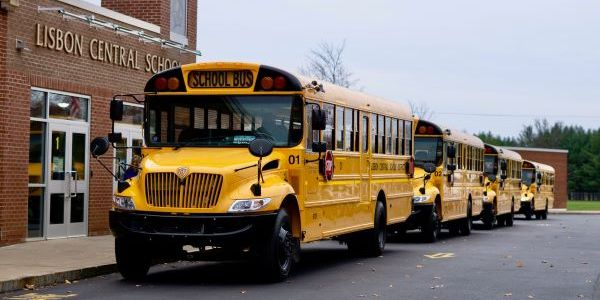 Lisbon (N.Y.) Central School District's new buses, which are part of an initiative to transition...