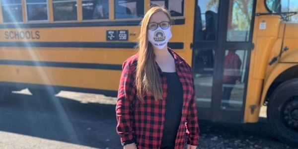Christy McWhirter, a driver for Metro Nashville (Tenn.) Public Schools, setup an Amazon wish...