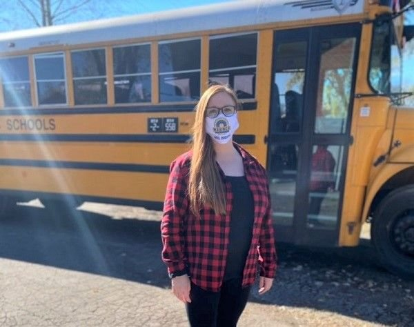 Christy McWhirter, a driver for Metro Nashville (Tenn.) Public Schools, set up an Amazon wish list so community members could donate cloth masks for her students to wear while on the bus. - Photo courtesy Christy McWhirter