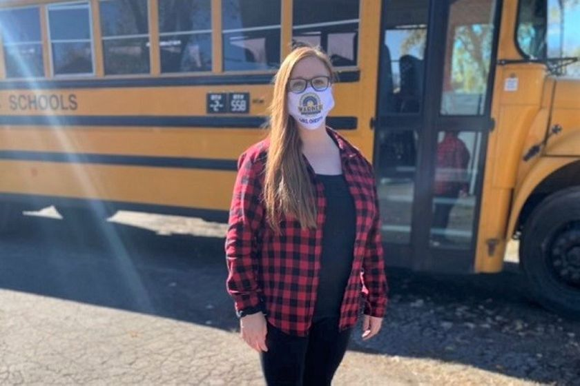 Christy McWhirter, a driver for Metro Nashville (Tenn.) Public Schools, set up an Amazon wish...