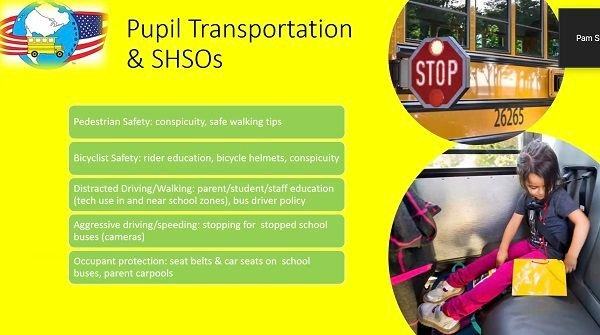 Pupil transportation leaders can work with their state highway safety offices (SHSOs) to fund projects related to school bus safety. - Screenshot taken from virtual workshop held by National Association of State Directors of Pupil Transportation Services
