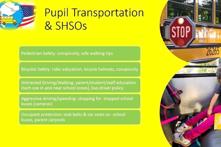 Pupil transportation leaders can work with their state highway safety offices (SHSOs) to fund...