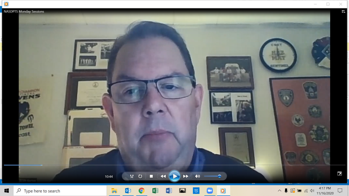 Scott Gorton, the executive director of the Transportation Security Administration, discussed the agency's efforts to optimize security information sharing. - Screenshot taken from virtual workshop held by National Association of State Directors of Pupil Transportation Services