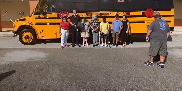 Special-needs students from The School District of Palm Beach County (Fla.) received a new...