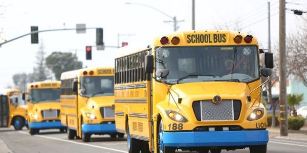 With the delivery of 10 LionC buses, Twin Rivers Unified School District in California has...