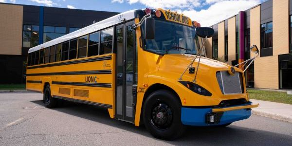 The Lion Electric Co. has successfully used its electric school buses to supply electricity back...