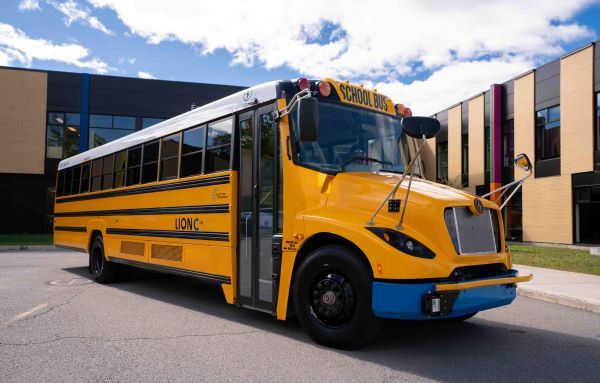 The Lion Electric Co. has successfully used its electric school buses to supply electricity back to Con Edison utility customers as part of its vehicle-to-grid pilot in New York state. - Photo courtesy The Lion Electric Co.