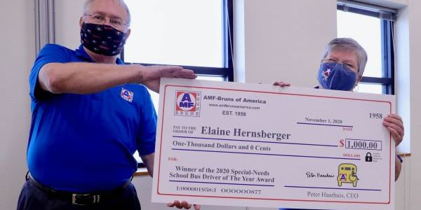 AMF-Bruns of America named Elaine Hernsberger as the winner of its National Special-Needs School...