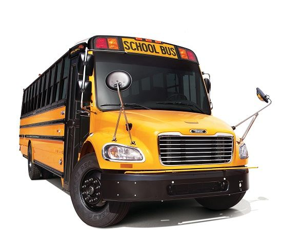 Transolutions Truck Centres is Thomas Built Buses' official dealer in the Canadian province of Manitoba. Shown here is the school bus manufacturer's Saf-T-Liner C2 diesel model. - Photo courtesy Daimler Trucks North America