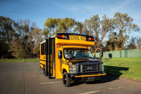 DATTCO Inc. has added Connecticut's first electric school bus, a Collins Type A All-Electric, to its fleet. - Photo courtesy DATTCO
