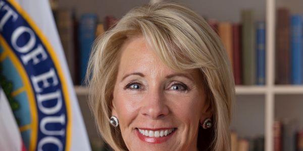 U.S. Secretary of Education Betsy DeVos has resigned effective Jan. 8.