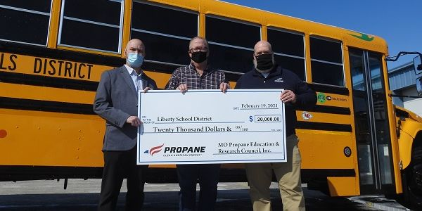 Liberty (Mo.) Public Schools received a $20,000 rebate from the Missouri Propane Education and...