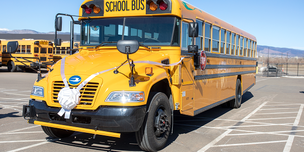 Boulder Valley (Colo.) School District welcomed its first Blue Bird Vision electric school bus...
