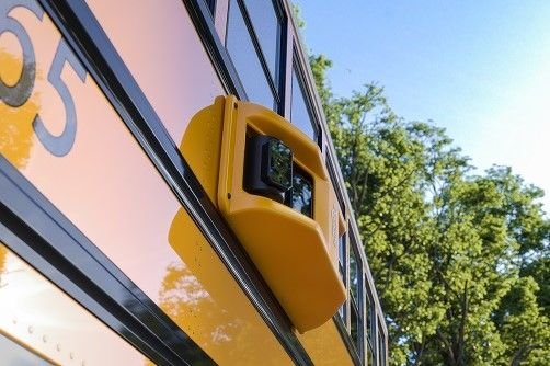 All 340 of Newport News (Va.) Public Schools' buses are now equipped with BusPatrol's cloud-connected stop-arm cameras, 4G LTE connectivity, and 360-degree view safety cameras. - Photo courtesy BusPatrol