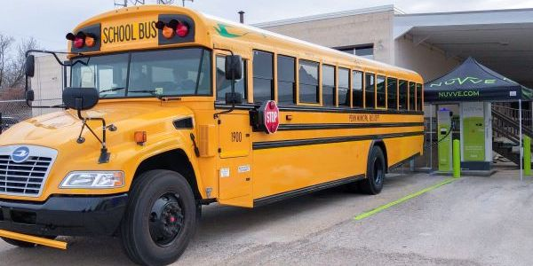 Blue Bird has delivered the first operational DC fast charge vehicle-to-grid capable school bus...