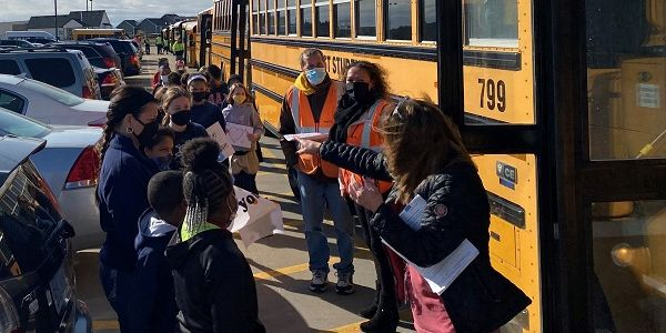 The First Student team in Wichita, Kansas, held a surprise school bus parade to lift the spirits...