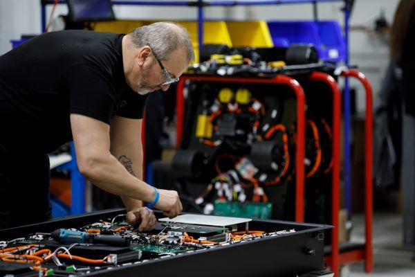 The Lion Electric Co. plans to construct a battery manufacturing plant and innovation center in Quebec. Shown here is the electric vehicle manufacturer's St. Jerome factory. - Photo courtesy The Lion Electric Co.