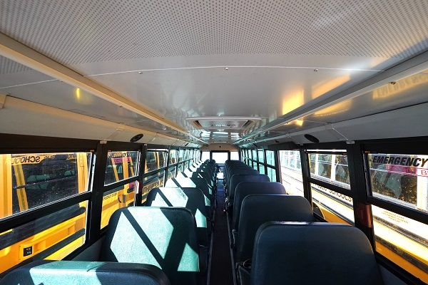 Southampton (N.Y.) Union Free School District is piloting two different disinfecting systems— Trans Mist andSpray Safe System 19— to mechanically sanitize buses between routes. - Photo courtesySouthampton Union Free School District
