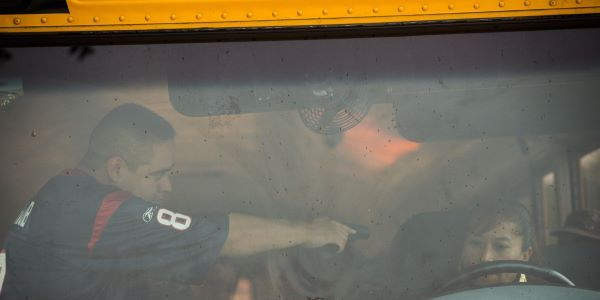 A South Carolina school bus driver and the 18 students he was transporting are safe after their...