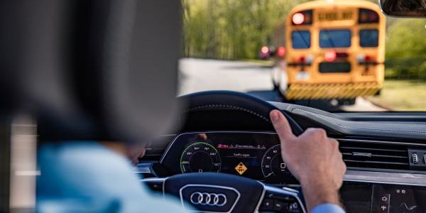 Vehicle-to-everything technology tested on a Fulton County (Ga.)Schools bus shows it can alert...