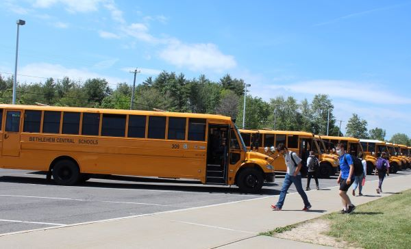 Voters have supported Delmar, New York-based Bethlehem Central Schools' plans to buy up to five electric school buses. The purchase in the 2021-22 school year is contingent upon state grant funding. - Photo courtesy Jo Ellen Gardner