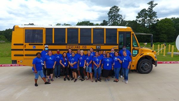 Cleveland (Texas) Independent School District'sspecial-needs transportation team recently received recognition from wheelchair securement supplier Q'Straint for going above and beyond to ensure the safety of their students. - Photo courtesy Cleveland ISD