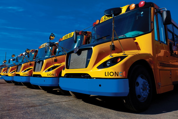 First Student is ordering 260 LionC electric school buses. - File photo courtesy The Lion Electric Co.