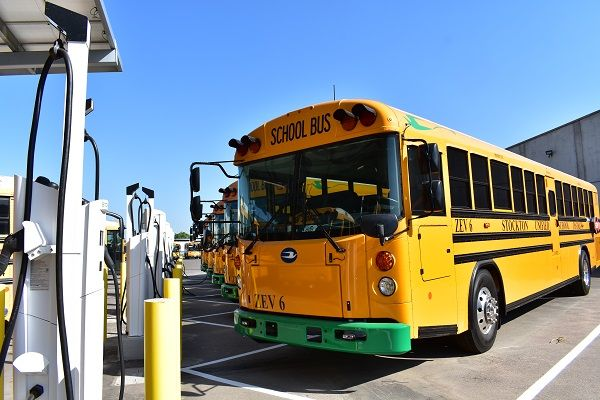 Stockton (Calif.) Unified School District has teamed up with electric vehicle charging solutions provider The Mobility House to deploy smart charging and management solutions for its new electric school buses. - Photo courtesy The Mobility House
