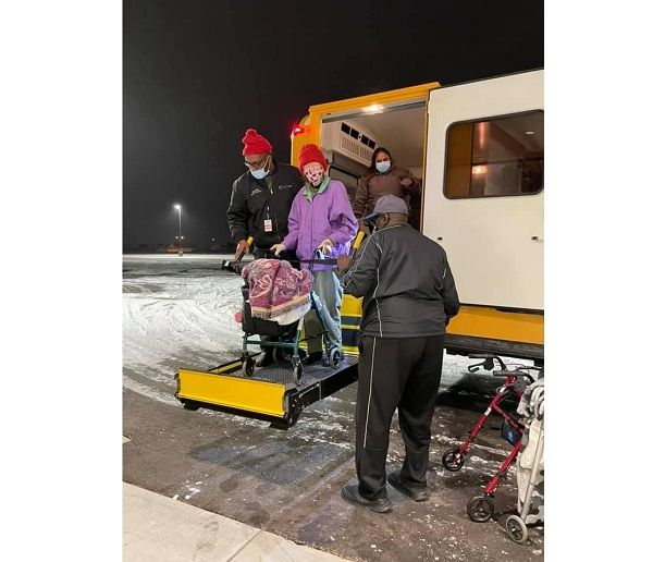 The transportation staff used some of the department's wheelchair lift-equipped buses to transport residents to warming stations and medical appointments, according to Christian Hernandez, Temple ISD's director of communications. - Photo courtesy Temple ISD