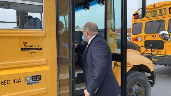 The Emergency Connectivity Fund will provide support for Wi-Fi hotspots on school buses. - Photo courtesy Kajeet