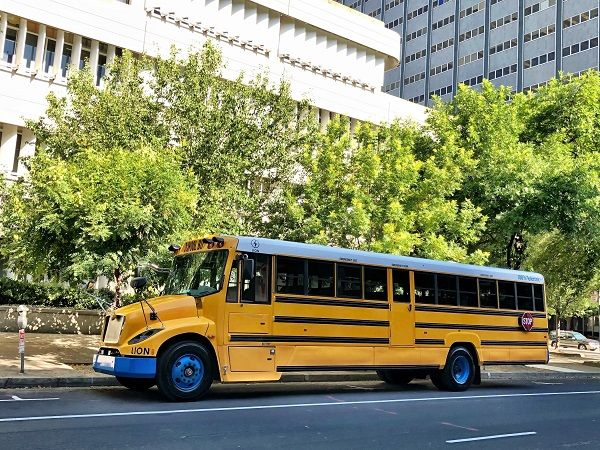 The School District of Philadelphia is making strides to transition from an all-diesel fleet by purchasing a total of 16 gasoline-powered buses from IC Bus and five electric buses from The Lion Electric Co. Shown here is a LionC. - File photo courtesy The Lion Electric Co.