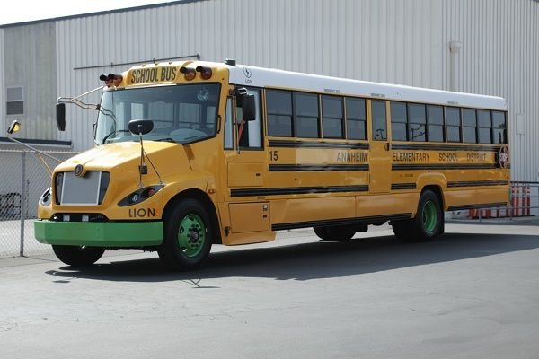 Anaheim (Calif.) Elementary School Districtunveiled four new electric school buses from The Lion Electric Co. during a ceremony at the district's transportation depot on July 16. - Photo courtesyAnaheim Elementary School District